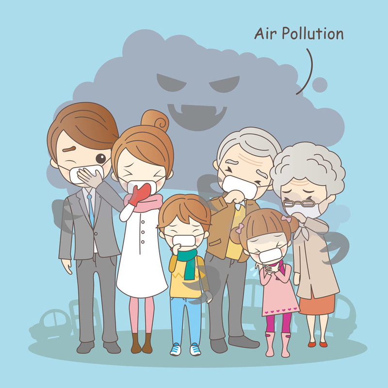What are the hazards of pollutants in the air?